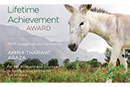 Lifetime Achievement Award for World Animal Day Ambassador